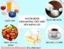 Viêm đường tiết niệu kiêng ăn gì