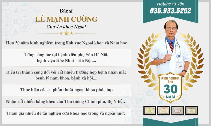 Bác sĩ Lê Mạnh Cường