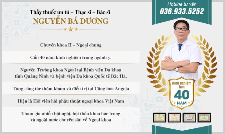 Bác sĩ: Nguyễn Bá Dương
