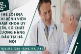 ết lộ] Địa chỉ bệnh viện Nam khoa uy tín, chất lượng hàng đầu tại Hà Nội